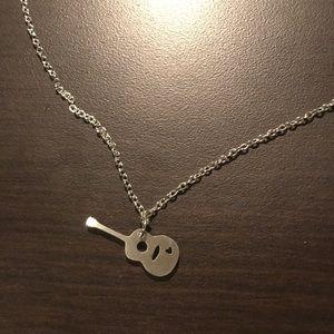 Guitar heart necklace